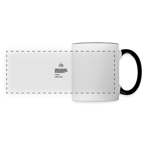 Salutation robotique - Mug panoramique contrasté et blanc