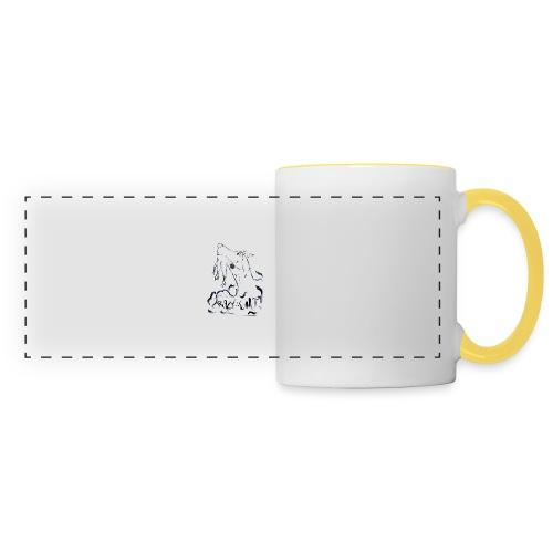 Crazy Goat 1 - Mug panoramique contrasté et blanc
