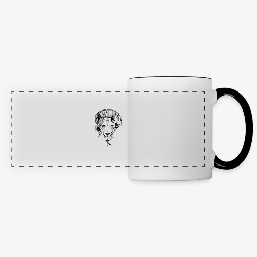 Tendresse maléfique - Mug panoramique contrasté et blanc