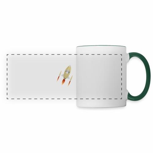 Spaceship - Mug panoramique contrasté et blanc