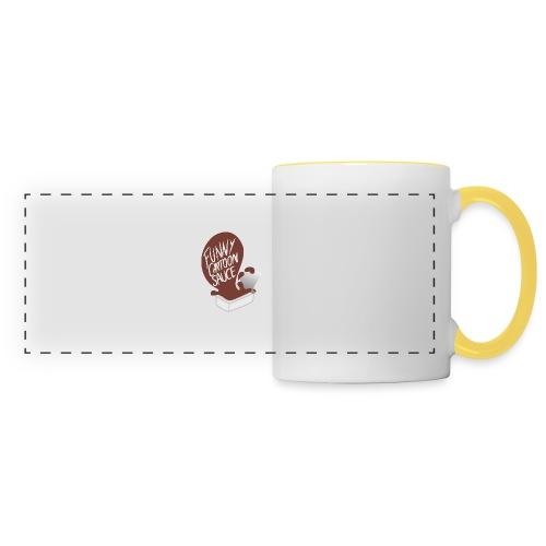 FUNNY CARTOON SAUCE - FEMALE - Panoramic Mug