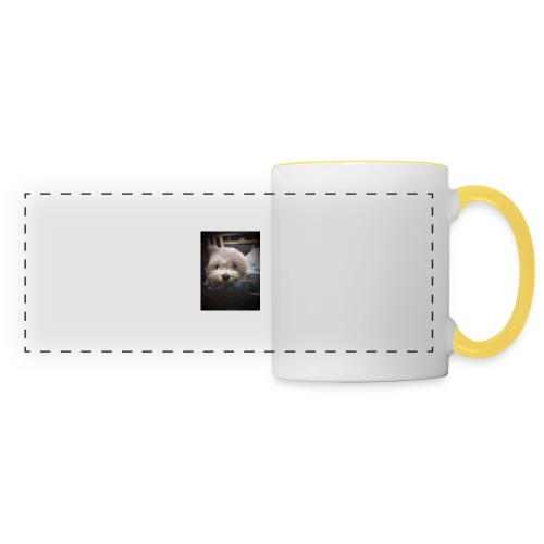 Pure White Pup - Panoramic Mug
