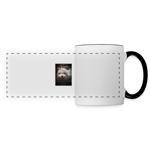Pure White Pup - Panoramic Mug