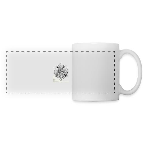 guerriere celtique entrelacs bretagne femme - Mug panoramique contrasté et blanc