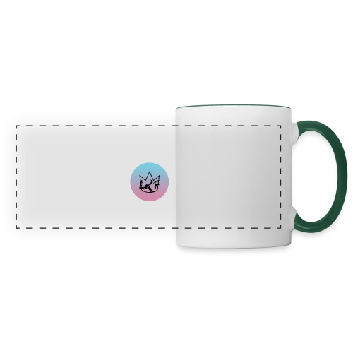 logo lrf rond black casquette - Mug panoramique contrasté et blanc