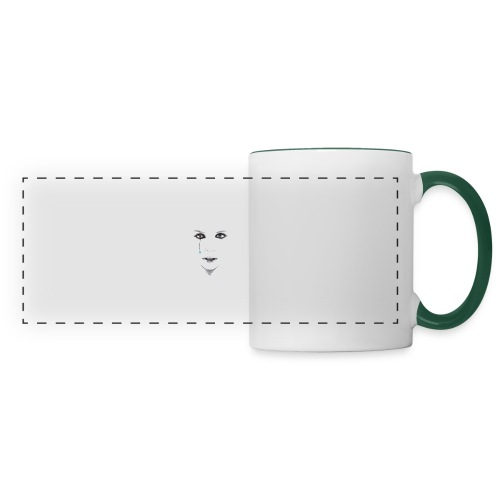Blue tear - Mug panoramique contrasté et blanc