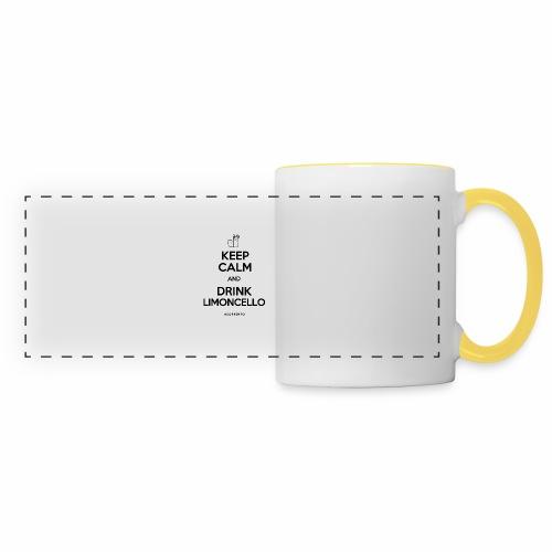 Restez calme et buvez du Limoncello - Mug panoramique contrasté et blanc