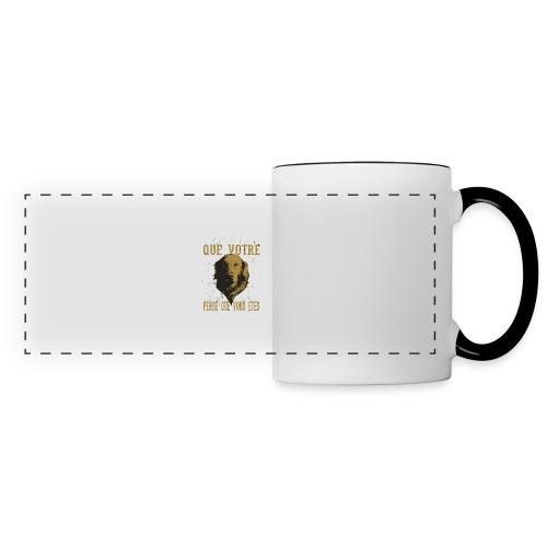 Un amour de chien - Mug panoramique contrasté et blanc