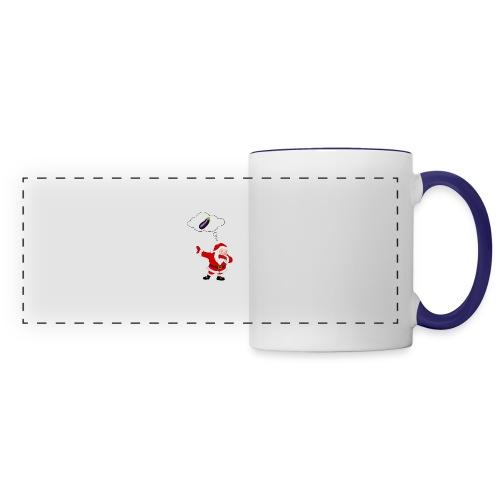 Père Noël aubergine - Mug panoramique contrasté et blanc