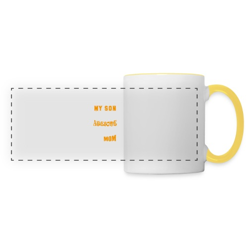 My Son Is Super Awesome His Mom - Panoramic Mug