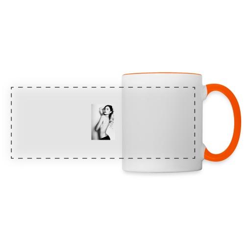 Hot babe b/w - Panoramic Mug