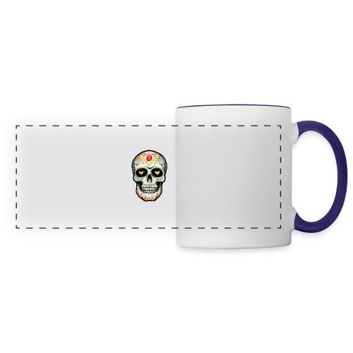 TETE DE MORT 1 - Mug panoramique contrasté et blanc