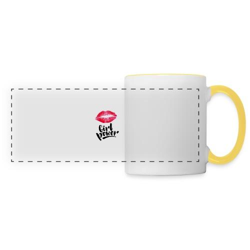 Girl Power - Mug panoramique contrasté et blanc
