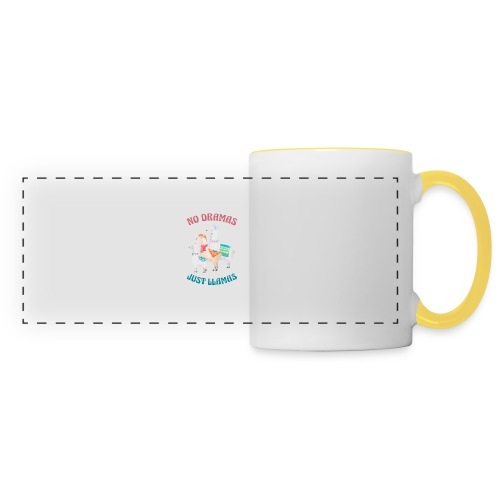 No Dramas Just Llamas - Panoramic Mug