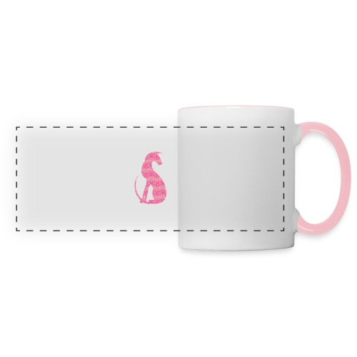 Siluett pink - Panoramamugg