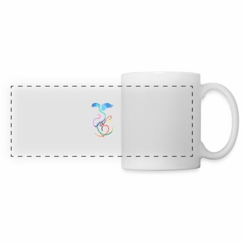 Graceful - Rainbow Bird in Ink - Panoramic Mug