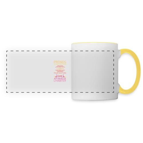 Prends soin de ton corps - Mug panoramique contrasté et blanc