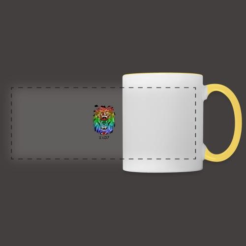 lion multi-color - Mug panoramique contrasté et blanc