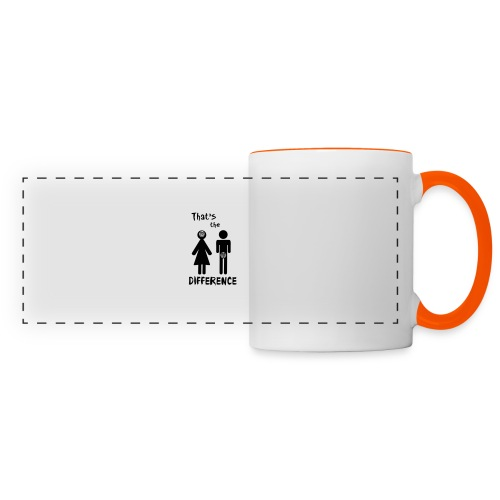 Unterschied Mann & Frau - Panoramatasse