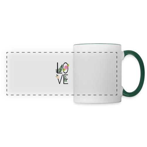 Love Sign with flowers - Panoramic Mug