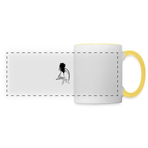 vieux_casque_1c - Mug panoramique contrasté et blanc