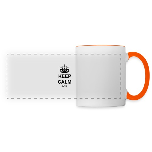 Keep Calm And Your Text Best Price - Panoramic Mug
