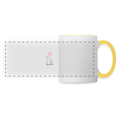 cute elephants - Panoramic Mug