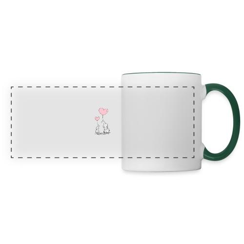 cute elephants - Panoramic Mug