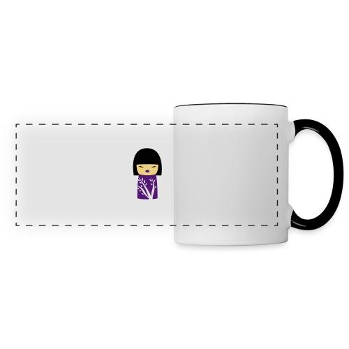 Motif Poupée Japonaise 1 - Mug panoramique contrasté et blanc