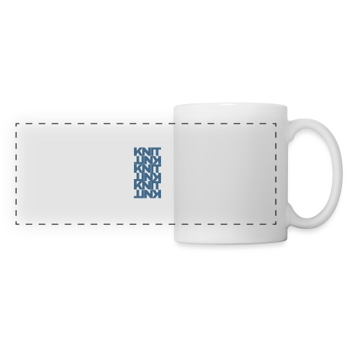 Garter Stitch, dark - Panoramic Mug