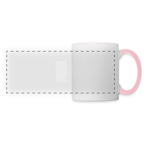 Garter Stitch, light - Panoramic Mug