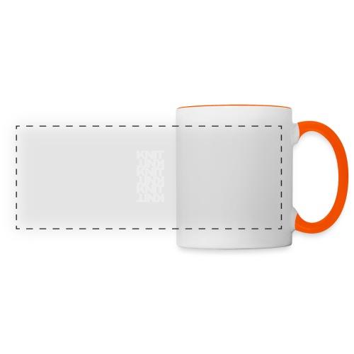 Garter Stitch, light - Panoramic Mug