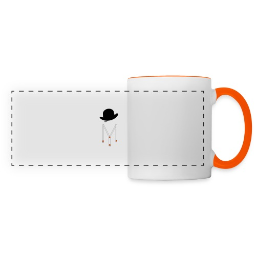 Orange Méca - Mug panoramique contrasté et blanc
