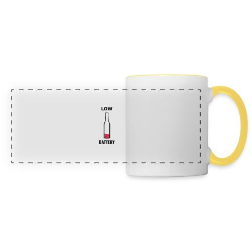 Beer Low Battery - Mug panoramique contrasté et blanc