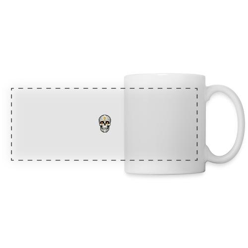 tete de mort - Mug panoramique contrasté et blanc