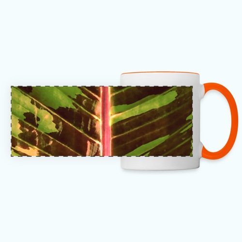Bananas leaf watercolor - Panoramic Mug
