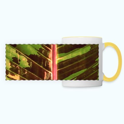 Bananas leaf watercolor - Panoramic Mug