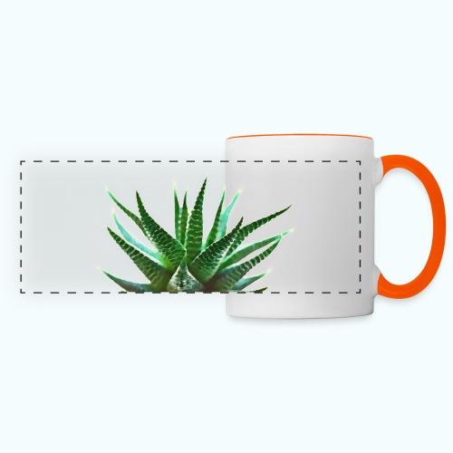 Simple plant minimalism watercolor - Panoramic Mug