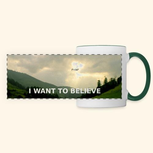 I WANT TO BELIEVE - Panoramic Mug