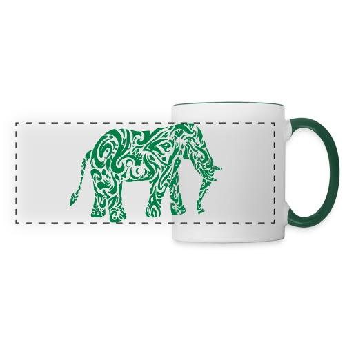 Tribal Eléphant - Mug panoramique contrasté et blanc