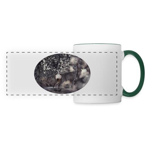 Deer in the sunlight - Panoramic Mug
