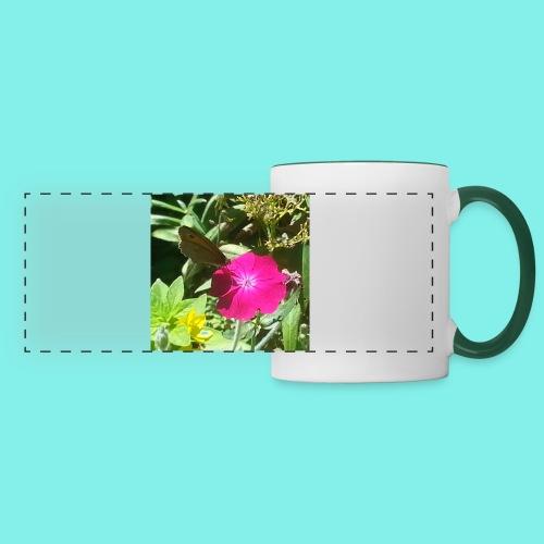 Schmetterling auf Blume - Panoramatasse