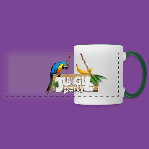 logo Jungle Party png - Mug panoramique contrasté et blanc