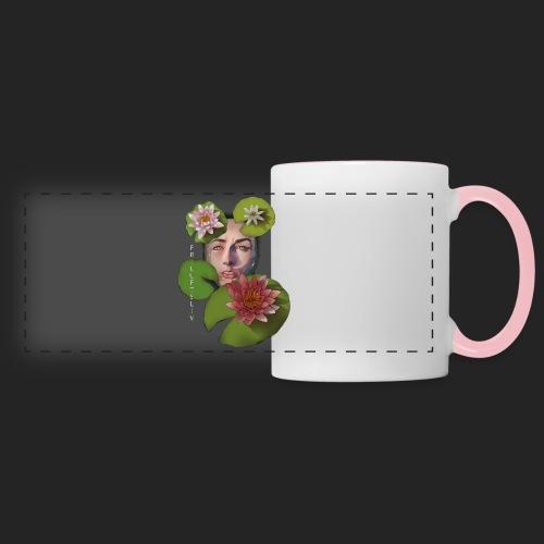 Friluftsliv L'art de se connecter avec la nature - Mug panoramique contrasté et blanc