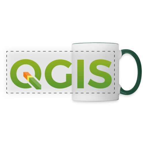 QGIS text logo - Panoramic Mug