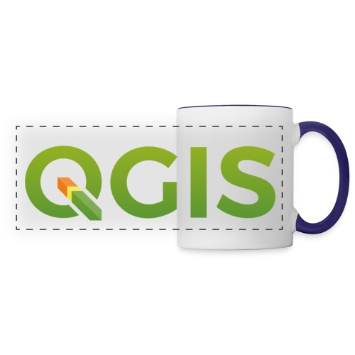 QGIS text logo - Panoramic Mug