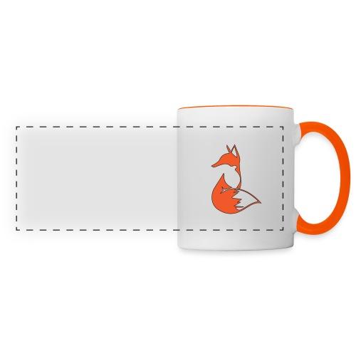 evil fox png - Mug panoramique contrasté et blanc
