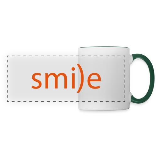 smile Emoticon lächeln lachen Optimist positiv yes - Panoramic Mug