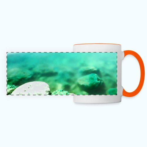 Zen beach watercolor minimalism - Panoramic Mug