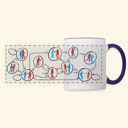 Lindy Hop DFA (Colour) - Panoramic Mug